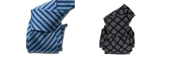 Cravate Classique Segni Disegni, Mogador, bleu