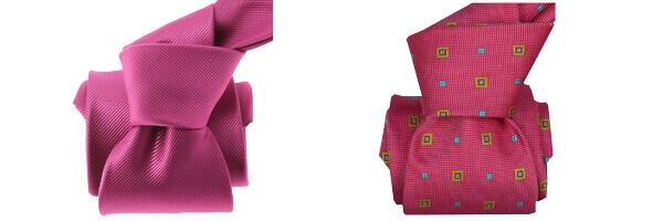 Cravate LUXE Segni Disegni  Faite main volterra rose et rose bolero