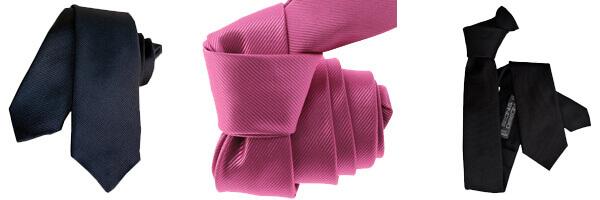 Cravate Segni Disegni CLASSIC, Slim Marine rose et noir