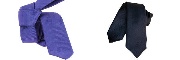 Cravate Segni Disegni CLASSIC, Slim Marine et cravate soie violette
