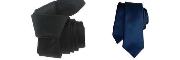 Cravate Segni Disegni CLASSIC, Slim bleu et cravate clj noir