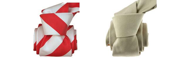 Cravate Segni Disegni LUXE, Faite main, Club Rouge et cravate luxe lino