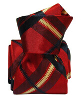 Cravate Segni Disegni LUXE, Faite main, Rimini, Rouge