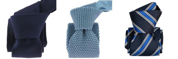 Cravate Tony and paul soie, marino et cravate tricot bleu avec cravateLuxe seigny rayée bleu