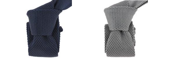 Cravate Tricot- Bleu marine et gris ardoise