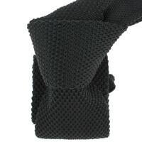 Cravate Tricot- Noir charbon