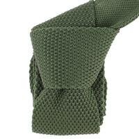 Cravate Tricot- Vert infanterie