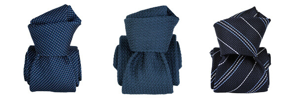 Cravate grenadine de soie, Segni & Disegni, bleu