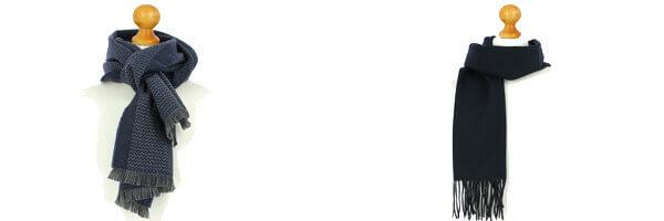 Echarpe bleu marine luxe unie en laine dAustralie