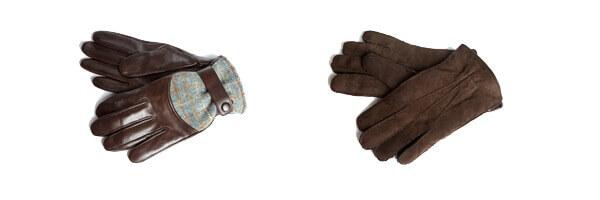 Gant cuir Simon Carter, cuir marron foncé