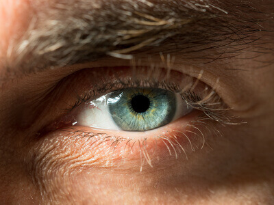 Green eye close up shot