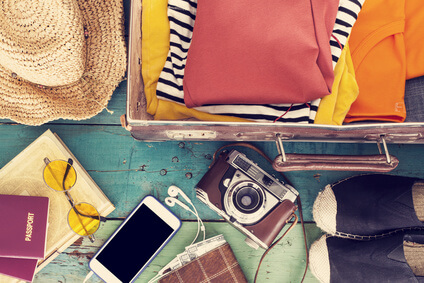 valise et bagages pour les vacances
