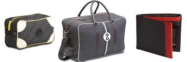 Huguy Fangio, sac de voyage avec motif en cuir trousse de toilette entre 2 retro et portefeuille cuir