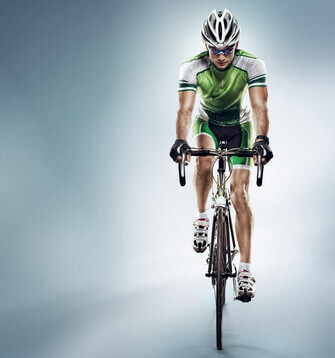 Isolated athletic cyclist. Sport - Cycliste sportif Isolé. Sport