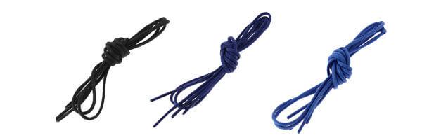 lacets-ronds-coton-cire en lot-couleur-bleu et noir