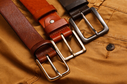 Leather belts and pants -Ceintures en cuir et pantalons