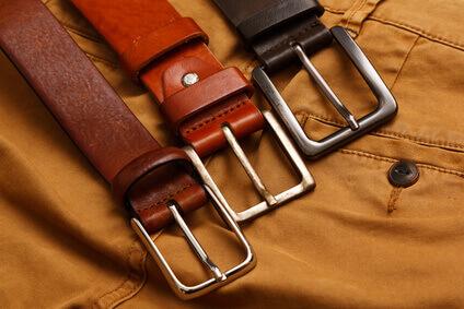 Leather belts and pants -Ceintures en cuir et pantalons