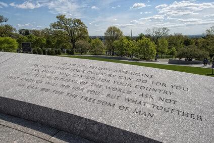 FK inscription du Discours au Cimetière Arlington