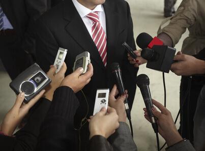 Microphones de journalisme de conférence de réunion daffaires