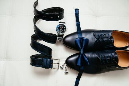 accessoires homme très élégant noir et bleu