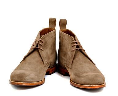 Bottes de cuir et daim couleur amande homme