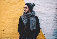 echarpes homme en laine