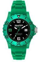 Montre Silicone, Skimp 38mm So British, vert