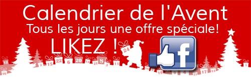 Likez notre page facebook pour découvrir toutes nos offres
