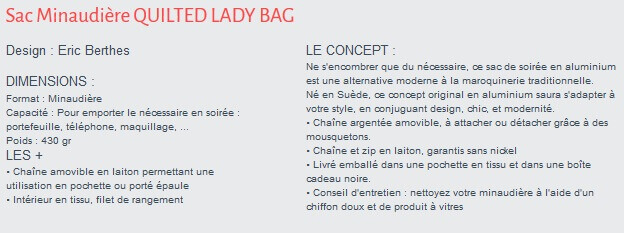 Sac Minaudière Quilted Lady Bag