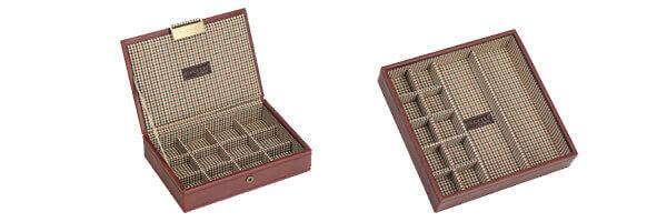 Plateau empilable BDM Top stacker,2 Modules Mini marron-Check