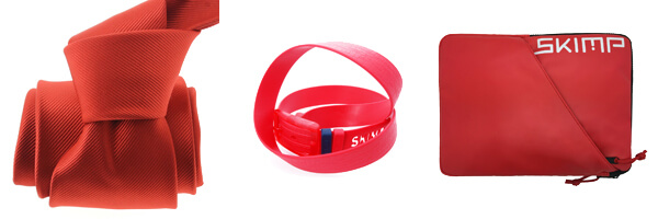 cravate rouge et etui tablette rouge ceinture skimp rouge