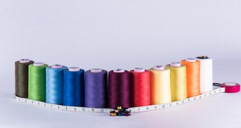 Rouleaux métalliques, bobines et mesure textile