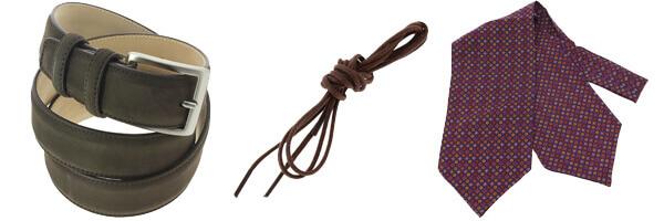 ceinture cuir marron lacet