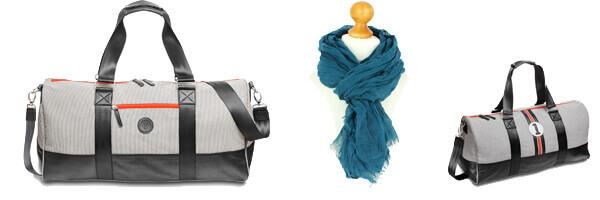 sac de voyage et cheche bleu