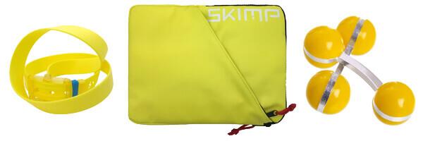 ceinture skimp jaune, housse ipad jaune skimp et boutons de manchette jaune sport