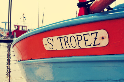 bateau au nom st tropez
