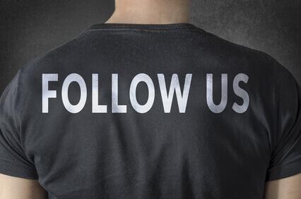 Suivez nous- Tee shirt inscriptions