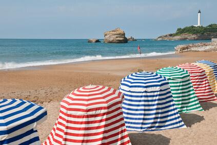 La plage à Biarritz