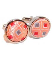 bouton-de-manchette-rond-argente-et-tissus-d16cm-disco-orange