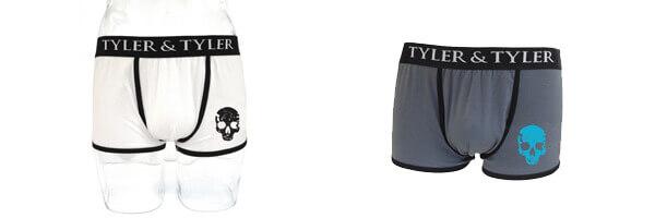 boxer-homme-blanc-tete-de-mort-noir et blanc