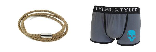 bracelet-trio-homme-monart-marron-clair et boxer homme