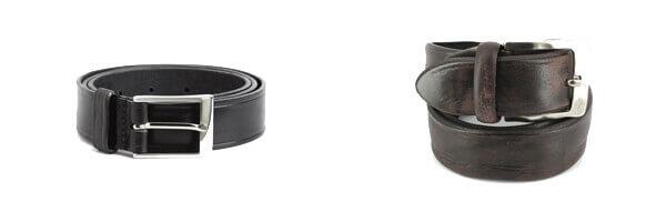 ceinture-simon-carter-luxe-cuir-espagnol-noir-costume et ceinture cuir marron