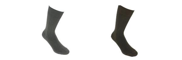 chaussettes-italiennes-en-coton-majoritaire teck et gris