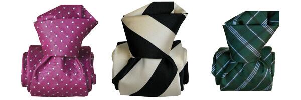 cravate-classique-segni-disegni-pure-soie-ostri-prune club rayee noir et verte