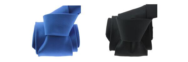 cravate-clj-orleans-bleu-blason et noir charbon
