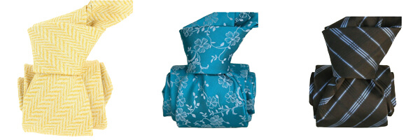 cravate-segni-disegni-luxe-faite-main-en-laine et cravate turquoise soie