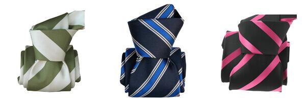 cravate-segni-disegni-luxe-faite-main-gladys-bleu avec cravates rayée