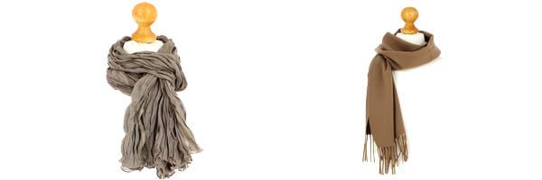 echarpe-marron-camel-luxe-unie-en-laine-d-australie-37x180cm et cheche homme marron