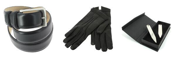 gant-cuir-noir-luxe-agneau-effet-sanglier-laine-fait-main-en-italie avec ceinture cuir noir et baleines de col