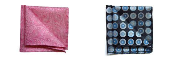 pochette-soie-tyler-and-tyler-bullseye-noir-et-bleu et paysley rose